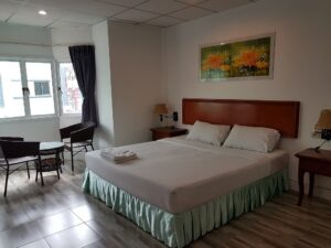Welcome inn hotel deluxe double room accepting Bitcoin as room payments.